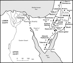 Map Of Canaan The Bible Journey 26 The Journey Continues From Sinai To Moab