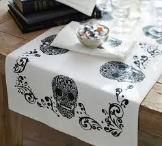 day of the dead table runner pottery barn again this is