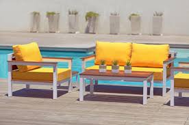 Outdoor Furniture Upholstery Fabric by Glamorous Weatherproof Patio Furniture Cushions From Bright Yellow