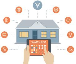 Home Interior Design Vector by Vector Smart Home Icons Green Color Design Smart Home Design