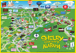 County Map Of Alabama Salty U0027ham Jam Cartoon Map Of Shelby County Alabama