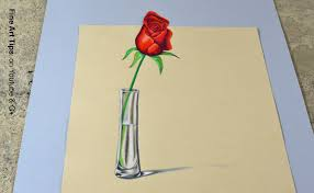 flower in vase drawing the secret technique for 3d drawings how to draw an anamorphic