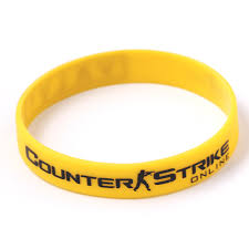 rubber wristband bracelet images 100pcs lot game play cs go silicone rubber diabetes bracelets csgo jpg