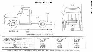 restore your ford 1953 1956 ford truck dimensions and specifications