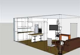 plans de cuisine ouverte plan cuisine ouverte sur salon 1 cuisine leicht ouverte