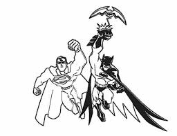 batman superman batman superman coloring pages print