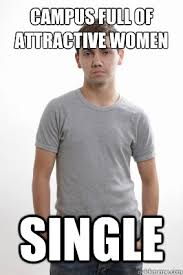 College Guy Meme - cus full of attractive women single average college guy