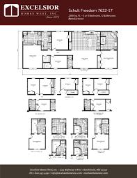 schult manufactured homes floor plans schult freedom 7632 17 excelsior homes west inc