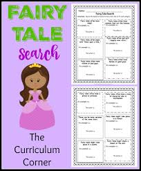 fairy tale book report template fairy tale unit of study updated the curriculum corner 123 day 3 fairy tale