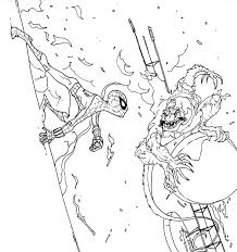 spiderman lizard coloring pages