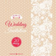 wedding invitation with white dots and flowers vector free download