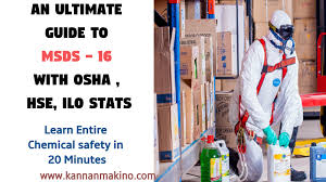 Msds Cover Sheet by An Ultimate Guide To Msds 16 With Osha Hse Ilo Stats Learn