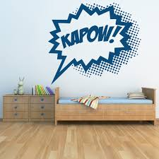 comic strip kapow wall sticker cartoon wall art