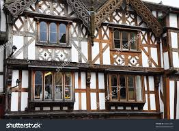 English Tudor by Ornate Timber Framed English Tudor Buildings Stock Photo 29831200