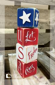 fill your home with diy americana crafts this wooden block tower