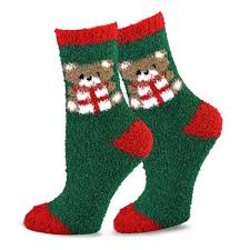 fuzzy christmas socks teehee winter cozy fuzzy fluffy slipper socks 9 pack