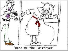 Wife Husband Meme - hand me the hairdryer funny wife and husband cartoons wife and