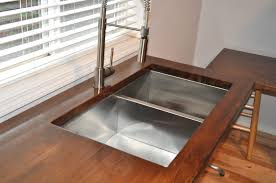 butcherblock countertops pros and cons home inspirations design undermount sink on butcherblock countertops