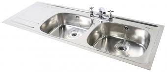 Double Bowl Single Drainer Inset Sink Northern Sink Supplies - Kitchen sink double bowl double drainer