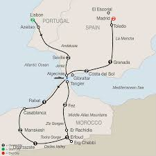 Portugal Spain Map by Morocco Portugal U0026 Spain Tours Globus Tours