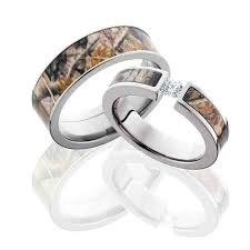 camo wedding sets 20 best his and hers wedding rings images on wedding