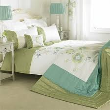 Embroidered Duvet Cover Sets Double Green Floral Embroidered Duvet Cover Set Buy Double Green