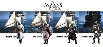 Blue And Black Flag Assassin U0027s Creed Iv Black Flag Ship Sails By Ultimatezetya On