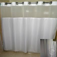 Hotel Shower Curtain With Snap In Liner Rujan Peek A Boo Herringbone Polyester Shower Curtain See Thru