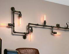 pipe au bureau industrial steunk pipe wall light industrial ceiling light