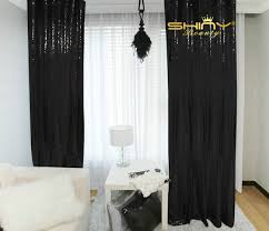 Black Sequin Shower Curtain Aliexpress Com Buy 2pcs Sequin Curtain 3x8ft Shimmer Sequin