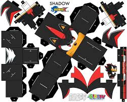 Sonic The Hedgehog Papercraft - shadow the hedgehog cubee craft armables hedgehogs