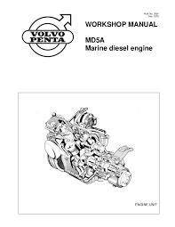 volvo penta md5a diesel marine engine workshop manual
