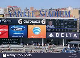 yankee stadium stock photos yankee stadium stock images alamy scoreboard at yankee stadium the bronx new york usa stock image