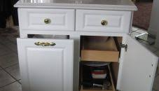 kitchensland with trash storage smallslands white cart tilt out