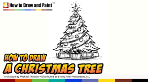 how to draw a christmas tree art for kids things to draw when