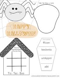 halloween activity pages printable life u0027s journey to perfection day 2 of 12 days of halloween fun