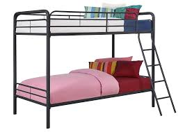 Black Twin Bedroom Furniture Amazon Com Dhp Twin Over Twin Metal Bunk Bed Black Kitchen