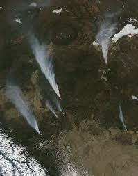 California Wildfire Satellite View by Slave Lake Wildfires Fire Earth