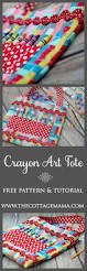 free crayon art tote sewing pattern and tutorial from the cottage