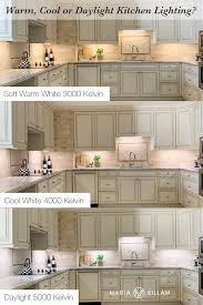 versus light kitchen cabinets do you prefer warm cool or daylight lighting for your kitchen