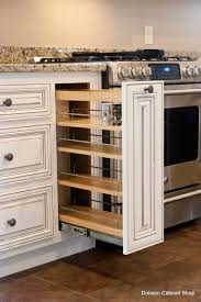Kitchen Spice Racks For Cabinets Kitchen Spice Rack Arlington Oatmeal With Caramel Glaze Cabinets