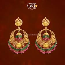 earrings in grt gold antique chandbali earrings from grt
