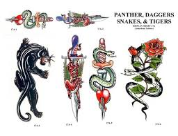 snakes and sword tattoo designs