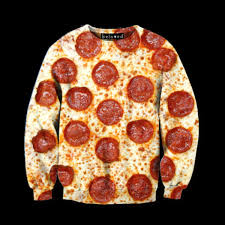 pepperoni pizza sweatshirt at shop jeen shop jeen