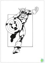 coloring pages captain america american superhero colouring pages