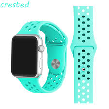 silicone strap bracelet images Crested sport band for apple watch band 42mm 38mm iwatch 3 2 1 jpg