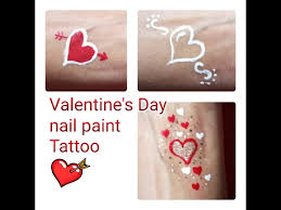 nail polish tattoo for valentine u0027s day easy temporary tattoo