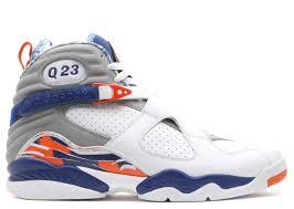 white and blue ribbon air 8 retro hoh q23 air 305381 141 white