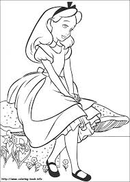 alice wonderland coloring pages coloring book