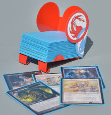 Mtg Card Design Magic Library Card Holder Compatible With Magic The Gathering
